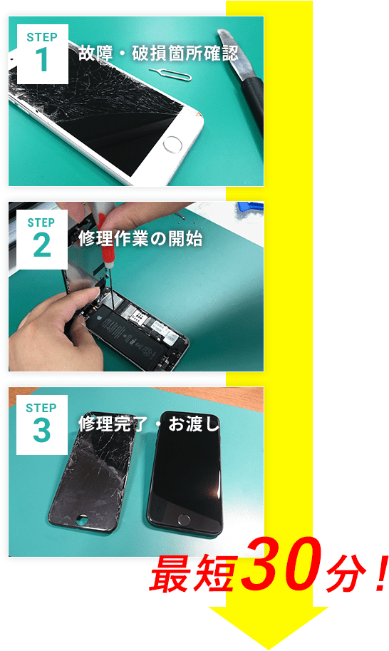 iPhone修理_最短30分