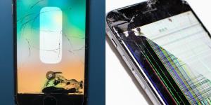 iPhoneの液晶漏れ